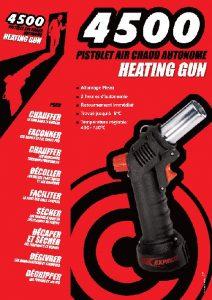L'argumentaire du pistolet air chaud Heating gun Réf. 4500