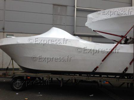 Exemple d'hivernage sur un bateau