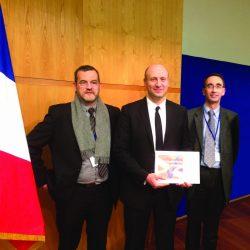 Remise du prix Visa Performance à l'équipe de Guilbert Express