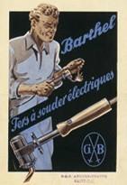 Affiche fers à souder électriques 1905