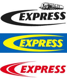 Les différents logos anciens de l'entreprise Guilbert Express