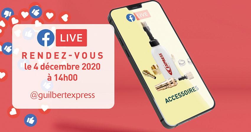 Nouveau facebook live autour des accessoires des produits de couverture Guilbert Express